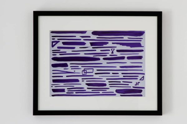 contemporary art calligraphy purple 1 TC19_1