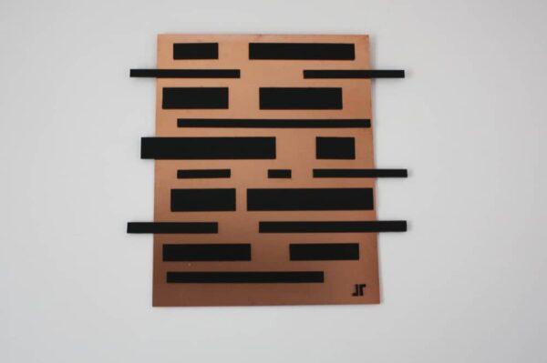 toile contemporaine 3D cuivre TC33